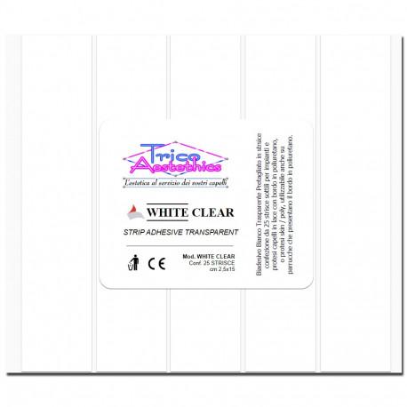 WHITE CLEAR STRIP cm 2,5 x 15 - Biadesivo Trasparente