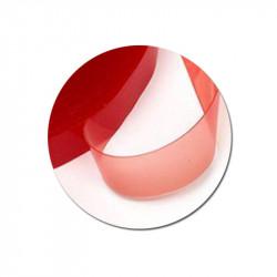 Biadesivo Rosso Trasparente cm 2 x 300