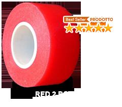 Biadesivo Rosso Morbido Opaco Petalo per Protesi di Capelli