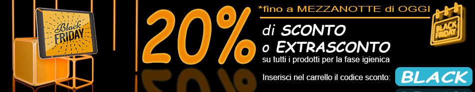 BLACK FRIDAY 20% di sconto o extrasconto