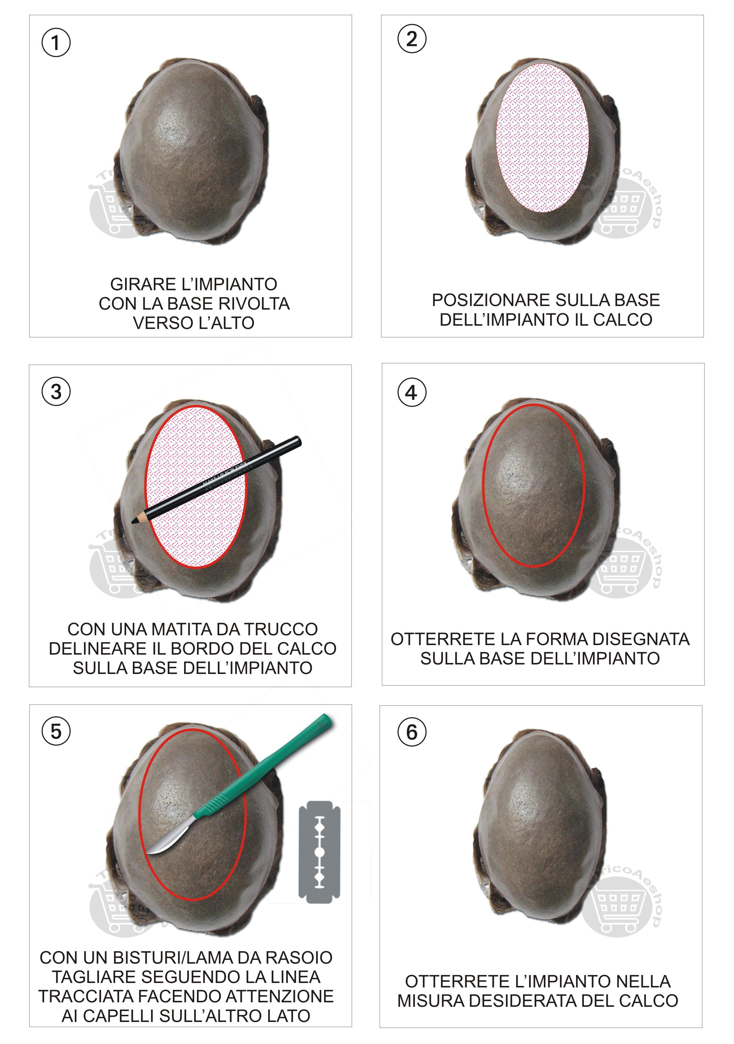 come ritagliare e ridimensionare una protesi