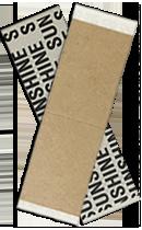 SUNSHINE Biadesivo pretagliato in confezione da 36 Strisce